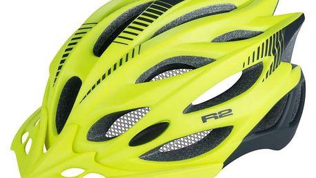 Unisex cyklistická helma R2 WIND ATH01L Neon žlutá M - 56-58c