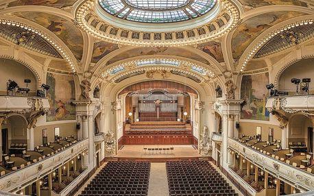 Housle, klavír a symfonický orchestr v Obecním domě