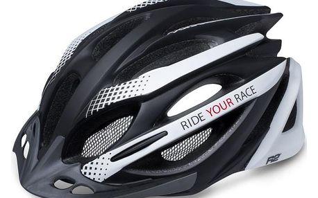 Unisex cyklistická helma R2 PRO-TEC ATH02J Černá/bílá M 56-58cm
