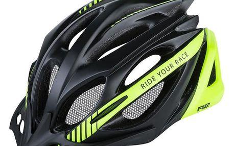 Unisex cyklistická helma R2 PRO-TEC ATH02O Černá/žlutá M 56-58cm