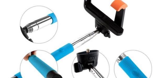 Selfie tyč GoGEN 2 teleskopická, bluetooth (GOGBTSELFIE2BL) modrá