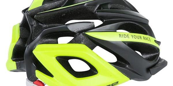 Unisex cyklistická helma R2 PRO-TEC ATH02O Černá/žlutá M 56-58cm2