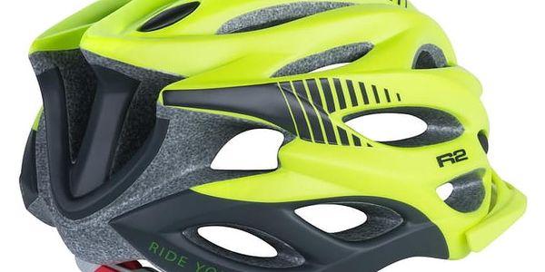 Unisex cyklistická helma R2 WIND ATH01L Neon žlutá M - 56-58c2