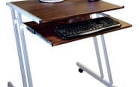 FALCO PC 2330 tmavý ořech počítačový stolek