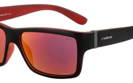Sluneční brýle Relax Formosa R2292E černá/červená Uni