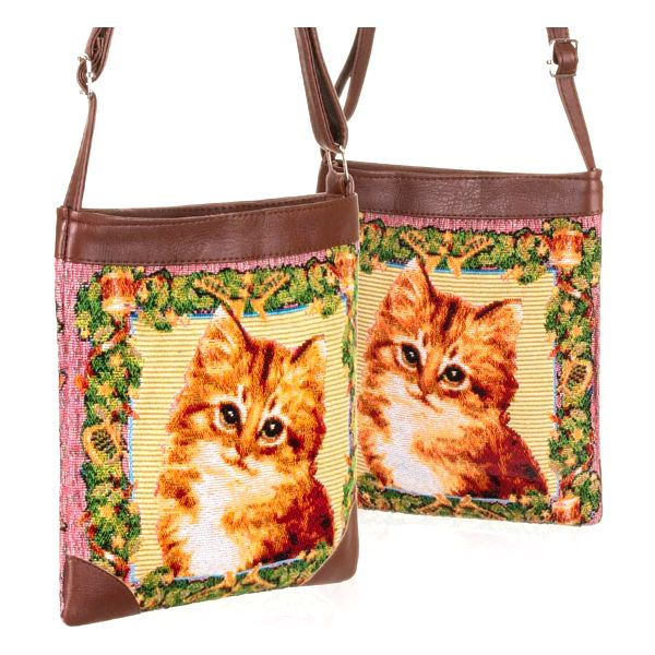 Fashion Icon Kabelka Cat kočka crossbody přes rameno