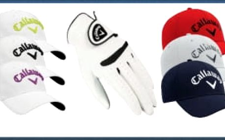 Chytrý balíček Callaway pro golfové lady i gentlemany: oblíbená golfová čepice v mnoha variantách + rukavice Weather Spann pro praváky i leváky v různých velikostech