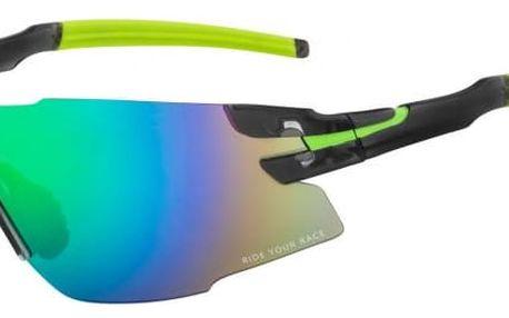 Sportovní sluneční brýle R2 DRAGON AT091B černá, zelená lesklá uni
