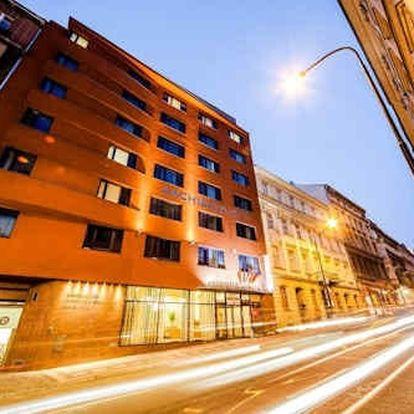 Komfortní pobyt v samém srdci Prahy v 4* hotelu pro 2 osoby se snídaní.
