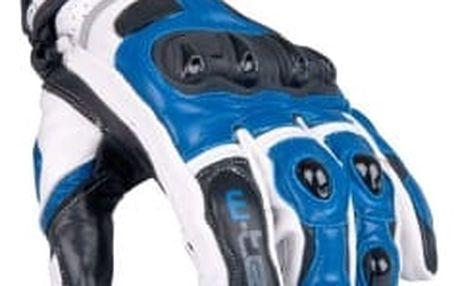 W-TEC Octane bílo-modré vel. L pánské motokrosové rukavice