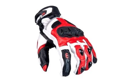 W-TEC Octane bílo-červené vel. L pánské motokrosové rukavice