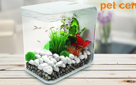 Kompletně vybavené akvárium s objemem 15 litrů