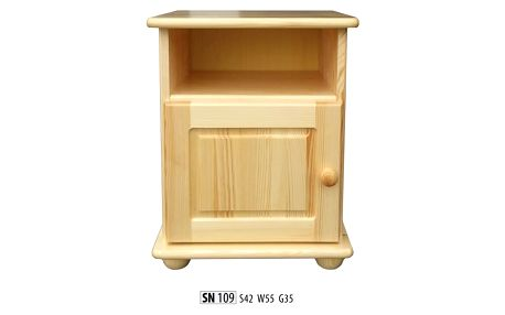 HMmax Noční stolek SN 109 masiv borovice Barevné provedení dřeva: dub