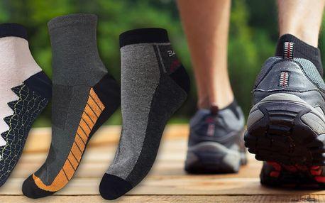 6 párů pánských funkčních ponožek na treking i běžné nošení