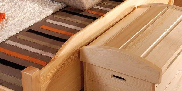 HMmax Noční stolek SN 107 masiv borovice Barevné provedení dřeva: olše2