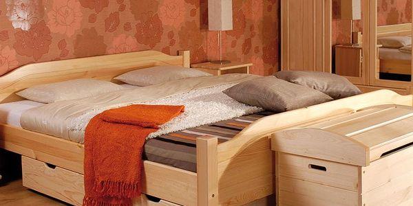 HMmax Noční stolek SN 107 masiv borovice Barevné provedení dřeva: olše3