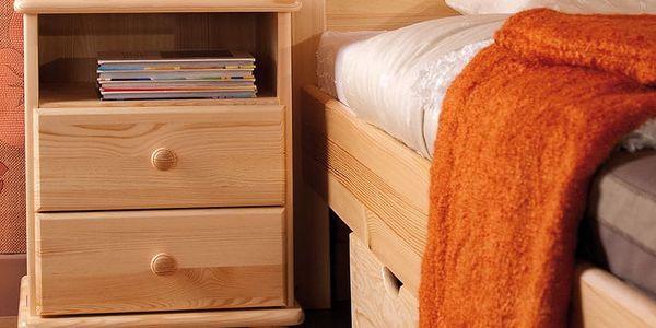 HMmax Noční stolek SN 105 masiv borovice Barevné provedení dřeva: gray - šedá3