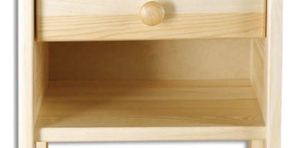 HMmax Noční stolek SN 107 masiv borovice Barevné provedení dřeva: olše