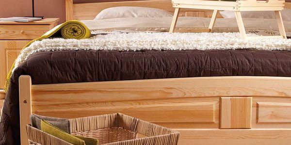 HMmax Noční stolek SN 101 masiv borovice Barevné provedení dřeva: ořech4