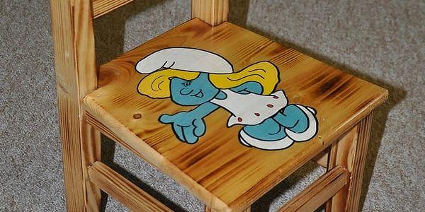 HMmax Dětský stoleček AD 232 s motivy - masiv Motivy: Šmoulové (bez židliček)3