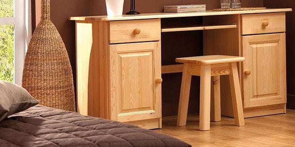 HMmax Noční stolek SN 109 masiv borovice Barevné provedení dřeva: dub4