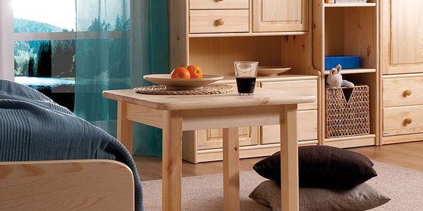 HMmax Noční stolek SN 101 masiv borovice Barevné provedení dřeva: ořech5