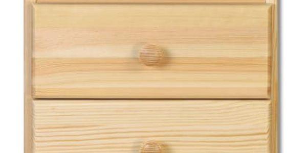 HMmax Noční stolek SN 105 masiv borovice Barevné provedení dřeva: gray - šedá