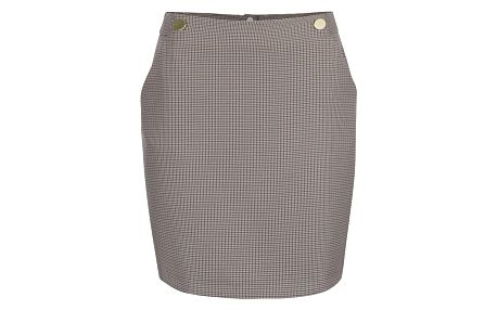 Světle hnědá vzorovaná sukně s kapsami Dorothy Perkins