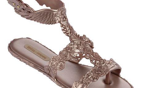 Melissa růžové sandály Campana Barroca Sandal Pink Metal - 38