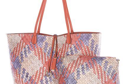 Fashion Icon Dámská kabelka Simple Style 2v1 přes rameno oranžová