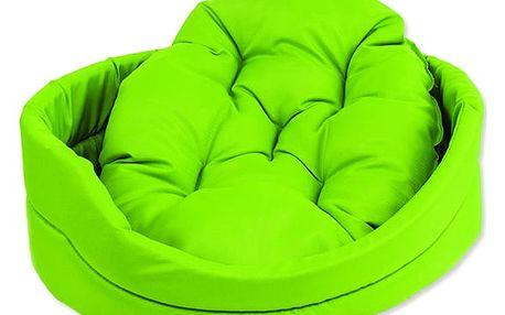 Pelíšek DOG FANTASY ovál s polštářem zelený 42 cm 1ks