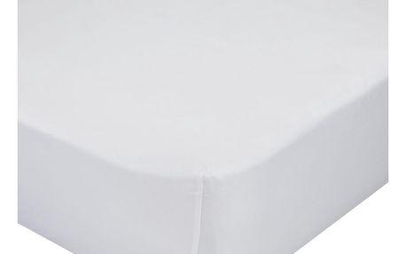 Bílé elastické prostěradlo Mr. Fox Happynois, 90x200cm