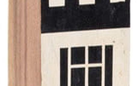 Dřevěný dekorativní domek Vox Budynek, výška20cm