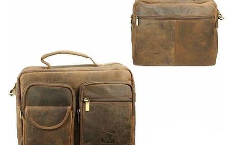 Pánská taška z pravé kůže LB24V-H Brown