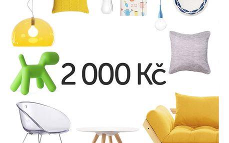 Elektronický dárkový poukaz na 2000 Kč - doprava zdarma!
