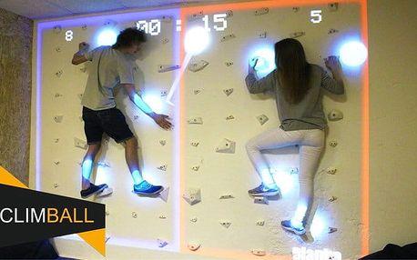 1x či 2x 20 minut interaktivní hry na horolezecké stěně pro 2 v Climball v Mostě