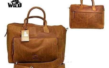 Pánská taška z pravé kůže C48.399 CBH Camel