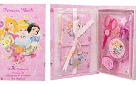 Disney Princess Princess dárková kazeta toaletní voda 50 ml + tužka + nůžky + guma + ořezávátko + zápisník + samolepky