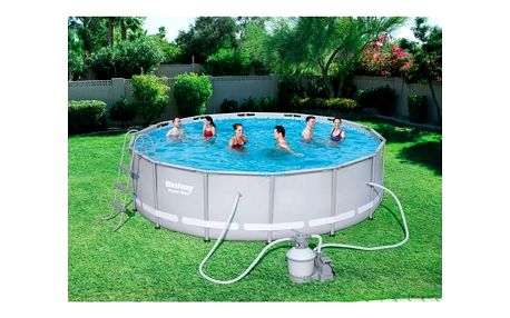 Bazén Bestway Steel Frame Pool 427 x 107 cm + Doprava zdarma