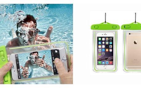 Univerzální svíticí vodotěsné pouzdro nejen na mobil. Chrání před vodou, nečistotami či pískem – kvalitní pouzdro využijete i na doklady, peníze, MP3 přehrávač nebo foťák! Vodotěsnost až do 10 metrů