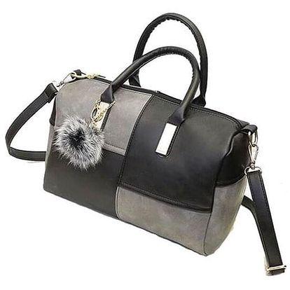 Dámská kabelka v zajímavé dvojkombinaci barev - šedočerná barva - dodání do 2 dnů