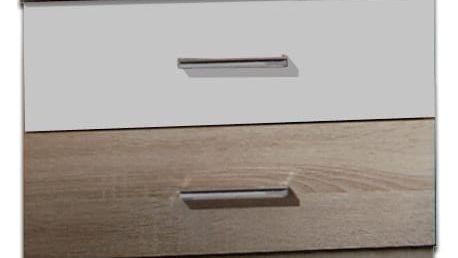 Alina - Noční stolek (dub, alpská bílá)