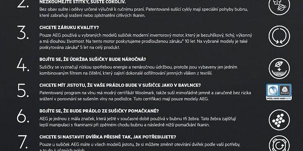 Sušička prádla AEG AbsoluteCare® T8DEE68SC bílá + DOPRAVA ZDARMA2