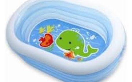 INTEX 57482 ovál s velrybou 163x107x46 cm dětský bazén