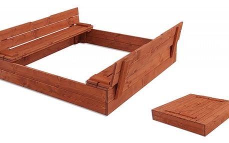 Dětské pískoviště s lavičkou MO 250