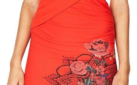Desigual červené šaty Sutton - XL