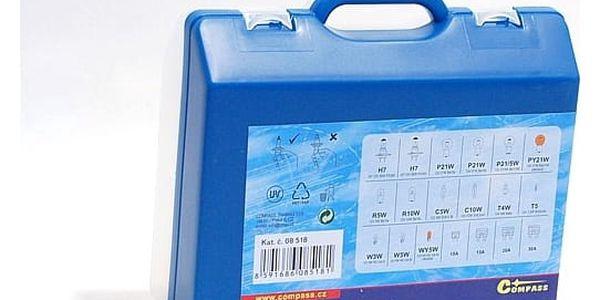 Autožárovka Compass 12 V servisní box MEGA H7+H7+pojistky2