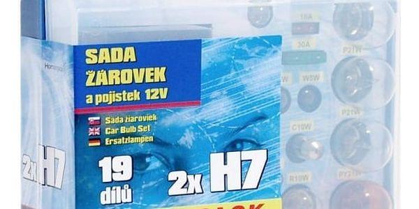Autožárovka Compass 12 V servisní box MEGA H7+H7+pojistky4