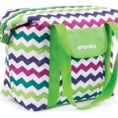 Chladící taška Spokey SAN REMO plážová termo, 52 x 20 x 40 cm zelená vzor