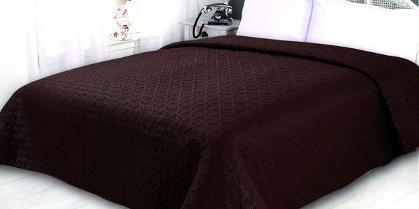 Přehoz na postel SONIC 220x240 cm hnědá ESSEX
